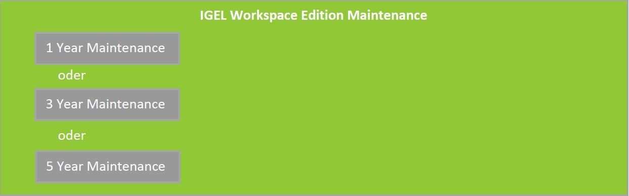IGEL Workspace Edition Maintenance