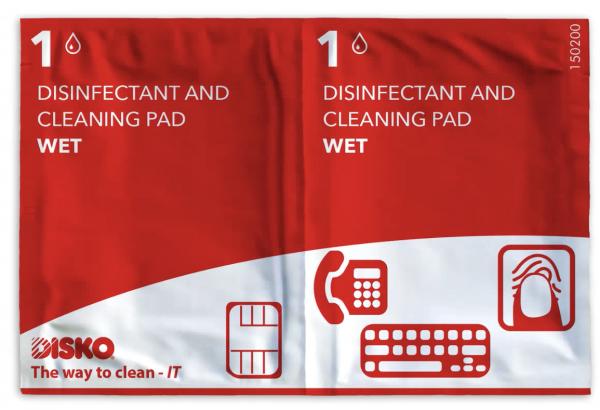 Desinfecterende reinigingspads (360 x) voor scanner, printer etc. nat/nat