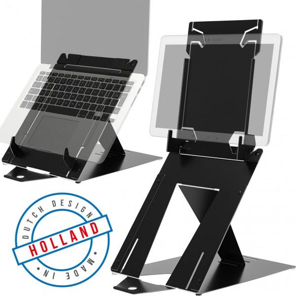 R-Go Riser Duo tablet en laptopstandaard (RGORIDUOBL)